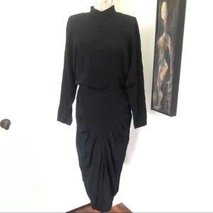 VINTAGE 80's Drape Backless Dress